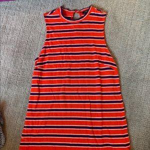 Striped Hight Neck Dress